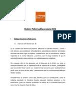 Boletín Reforma Fiscal 2014 Versión Final