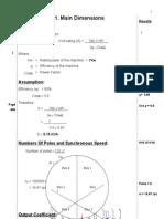Design Induction Motor