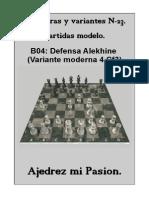 23- B04 Defensa Alekhine (Variante