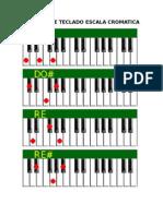 Acordes de Teclado Escala Cromatica