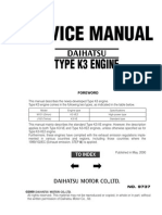 2006 Daihatsu Terios Engine Service Manual