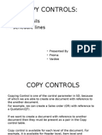 SAP SD - Copy Controls