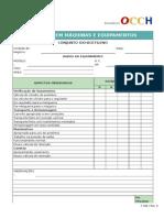 F 086 Inspeção Conjunto Oxi Acetileno