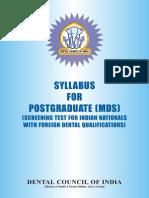Mds Syllabus (1)