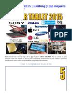 Mejor Tablet 2015
