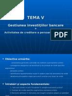 investitii bancare