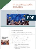 Bloque IV La Ciudadanía Europea