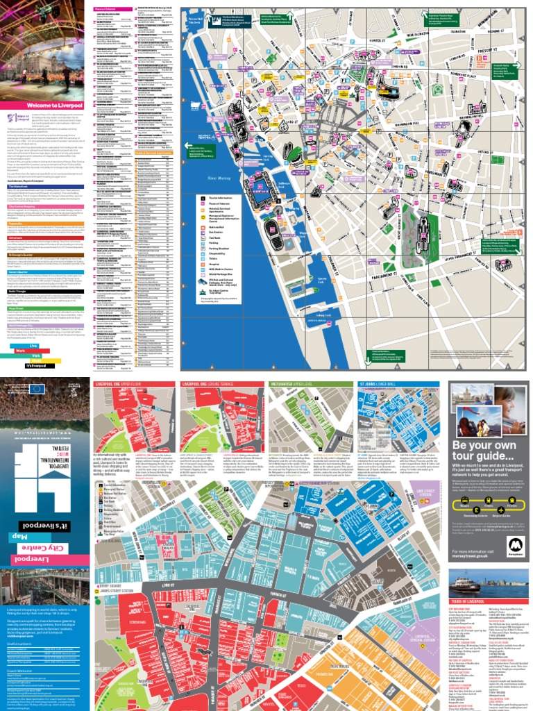 Liverpool City Centre Map 2014 | Liverpool | Hotel And ...