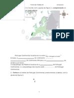 Ficha de Geografia Sobre Portugal 7º Ano