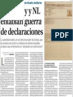 20-01-2015 Monterrey y NL entablan guerra de declaraciones