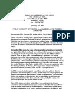 Ketchikan Herring Action Group Rauwolf Testimony