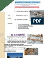 Trabajo 1 Aglomerantes (Cemento)