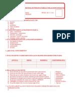 Evaluación Mensual de Persona Familia y Relaciones Humanas