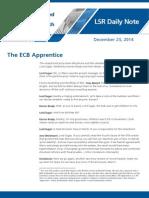 The ECB Apprentice