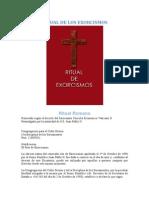 Ritual Del Exorcismo Catolico - Congregacion Para El Culto Divino