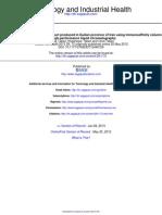 ODREĐIVANJE Afm! U JOGURTU Toxicol Ind Health-2013-Tabari-72-6