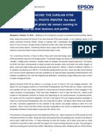 Press Release-Epson SL D700