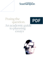Academic Guide - Posing the Question