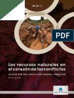 Ccfd Los Recursos Naturales en El Corazon de Los Conflictos