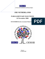 Netherlands, Parliamentary Elections, 22 November 2006