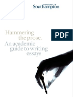 Academic Guide - Hammering the Prose