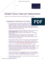 Multiple Choice Tests Zum Selbermachen