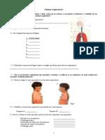 Teste Sistema Respiratório e Circulatório 6º