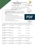 Examen Ciencias II Seundo Bimestre
