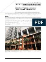 ThE RElaTioNshiP BETWEEN housiNG  DENsiTy aND BuilT-FoRm ENERGy usE