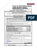 Prova seleção SESI-PA - Professor de Português