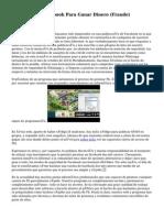 Un Script De Facebook Para Ganar Dinero (Fraude)