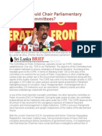Why JVP Should Chair Parliamentary Over Site Committees