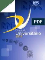 Directorio 2014 de la Asamblea Nacional de Rectores - Perú