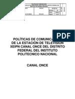 1Politicas Comunicacion Canal Once