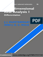 J. J. Duistermaat, J. a. C. Kolk. Multidimensional Analysis I