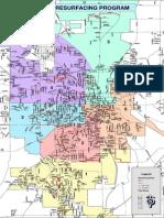 2015 Mansfield Resurfacing Map