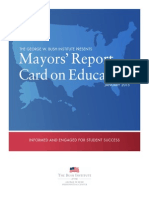 Mayors Report Card on Education