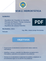 Conferencia 2 de Hidrostática