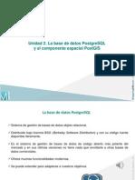 Unidad 2 La Base de Datos PostgreSQL y El Componente Espacial PostGIS-libre