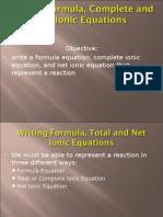 Writing Net Ionic Equations