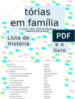 Livro Historias Em Familia