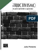 ConstructivismoEstrategias Para Aprender a Aprender Julio Pimienta