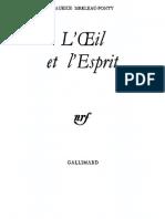 Merleau-Ponty - Extrait de L'Œil Et l'Esprit