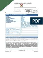 Contenido Programático Química General Ingeniería I-2015