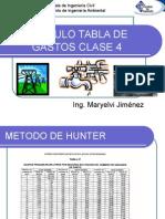 Clase de presiones y gastos (instalaciones para edificios)