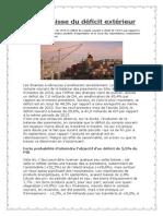 Forte Baisse Du Déficit Extérieur