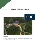 Geotermia en Guatemala