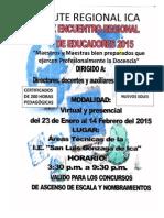 Temario X ENCUENTRO REGIONAL DE EDUCADORES DE ICA