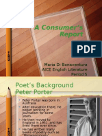 A Consumer's Report Poetry Analysis