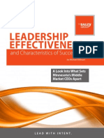 Leadership Effectiveness & Characteristics of Success - A Look at What Sets Minnesota's Middle Market CEOs Apart